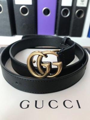 Gucci Fibbia per cinture nero-bronzo Pelle