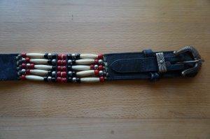 Cintura di pelle multicolore