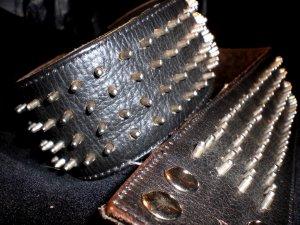 Studded Belt black-silver-colored leather