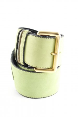 Leather Belt neon green extravagant style