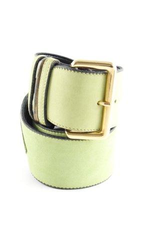 Ledergürtel neongrün extravaganter Stil