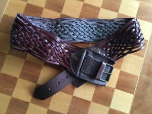 Braided Belt brown leather
