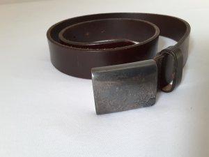 Ledergürtel, Rene Lezard, dunkelbraun, Länge 85