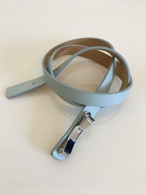 Ledergürtel Riani Hellblau Schleife 70-97cm