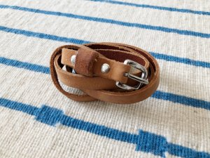 H&M Waist Belt cognac-coloured leather