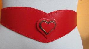 LEDERGÜRTEL: Schönes Rot, toll auch zu Vintagekleidern...95 cm, NEU