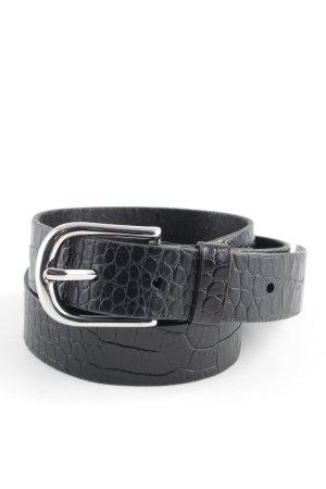Ledergürtel schwarz Animalmuster klassischer Stil