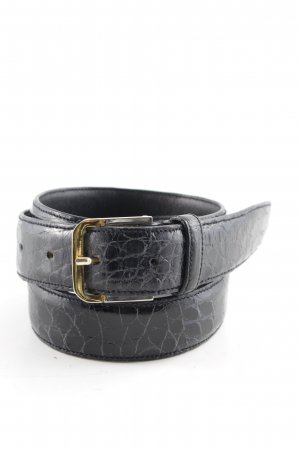 Leather Belt black casual look
