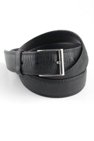 Ledergürtel schwarz klassischer Stil