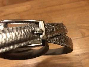 admü Leather Belt silver-colored
