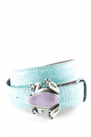 Leather Belt turquoise casual look