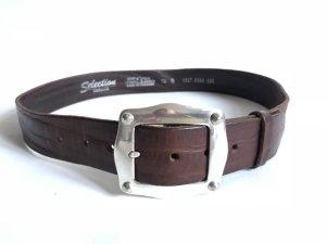 Vanzetti Cinturón de cuero marrón-negro-marrón oscuro Cuero
