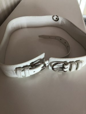 Burberry Leather Belt white