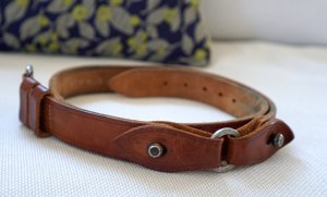 Closed Lederen riem cognac