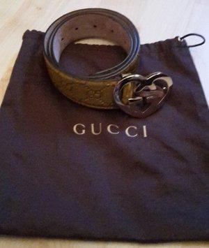 Ledergürtel von Gucci goldfarben