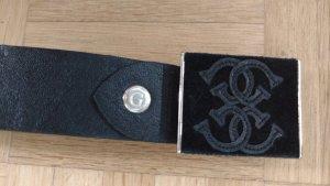 Guess Cinturón negro Cuero