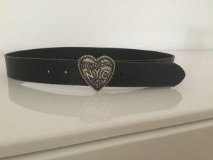 Hilfiger Denim Leather Belt black leather