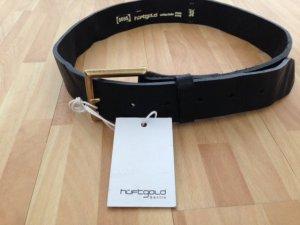 Hüftgold Cinturón de cadera negro Cuero