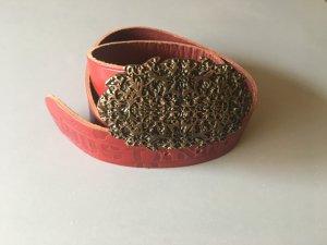 Mustang Leather Belt carmine