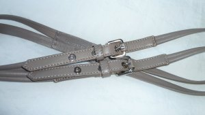 Schumacher Belt silver-colored leather