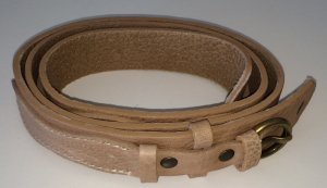 Tommy Hilfiger Leather Belt beige-camel leather