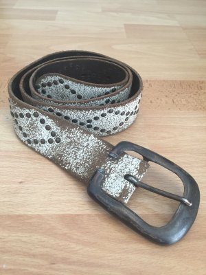 Vanzetti Belt white-dark brown