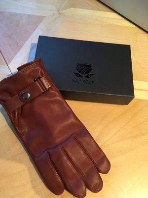 Navyboot Leather Gloves brown leather