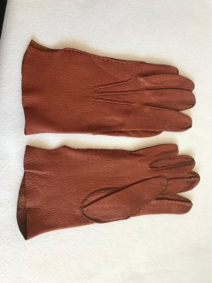 Leather Gloves cognac-coloured-russet leather