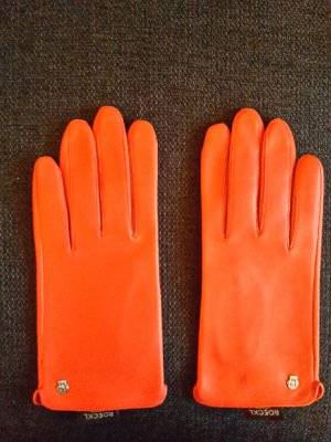 Roeckl Leather Gloves brick red