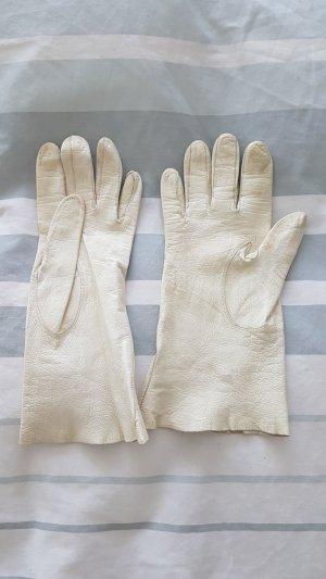 Leren handschoenen licht beige Leer