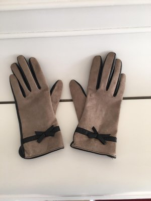 Mohito Leather Gloves black-beige