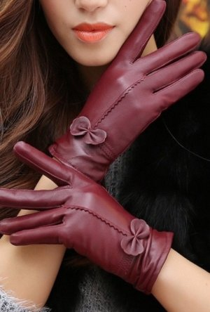 Gloves bordeaux
