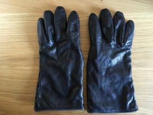 Roeckl Leren handschoenen zwart-donkergrijs Leer