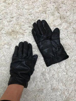 Guanto in pelle nero