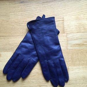 Lederhandschuhe dunkelblau Gr. L. H&M