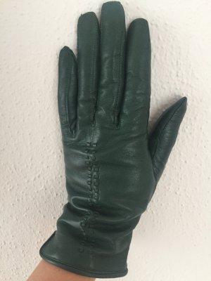 Lederhandschuhe dunkelgrün