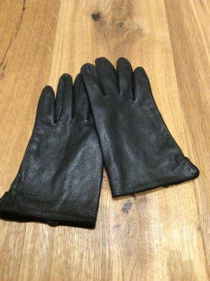 Lederhandschuhe Gr. 7,5 - schwarz