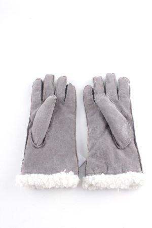 Lederhandschuhe grau Casual-Look