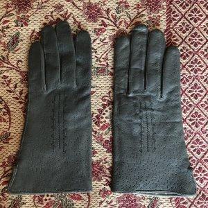 Lederhandschuhe grau Vintage
