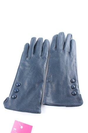 Leren handschoenen leigrijs casual uitstraling