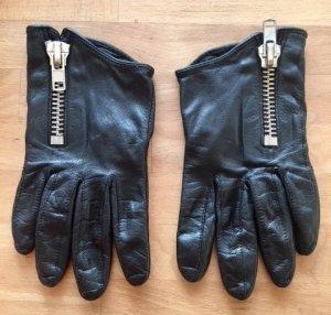 H&M Studio Leather Gloves black leather