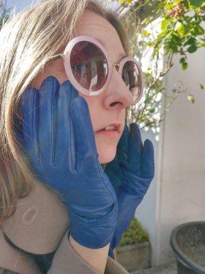 Lederhandschuhe in Blau von You & Me