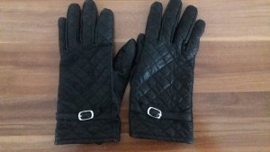 Leather Gloves black-dark brown leather