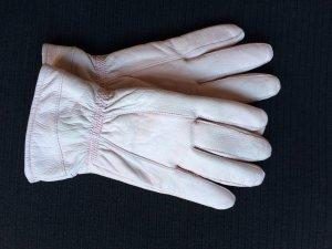 Lederhandschuhe in Puderrose