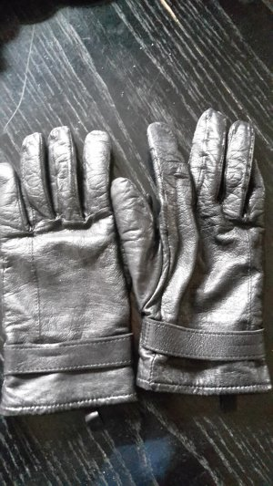 Lederhandschuhe in schwarz