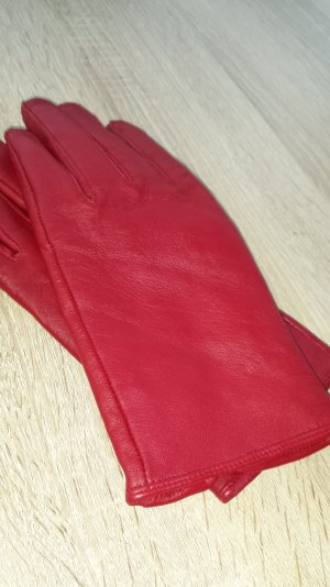 Lederhandschuhe in tollem rot