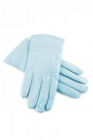 Leather Gloves cornflower blue simple style