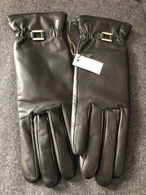 Longchamp Guanto con dita nero Pelle