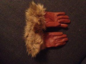 Lederhandschuhe mit Fell