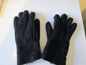 Lederhandschuhe mit Fell innen schwarz Gr.S
